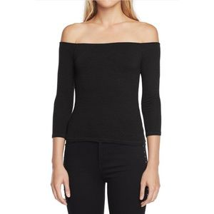 NWT RAG&BONE/JEAN Black Off-The-Shoulder Top